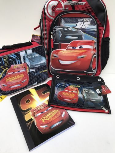 379905e1071 Backpacks and Bags 57882  Disney Pixar Cars 3 Lightning Mcqueen Backpack  Lunchbox Pencil Case Notebook -  BUY IT NOW ONLY   34.99 on eBay!