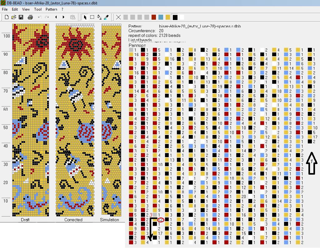 20 around stripe | Bead Crochet | Pinterest | Bead crochet, Beads ...