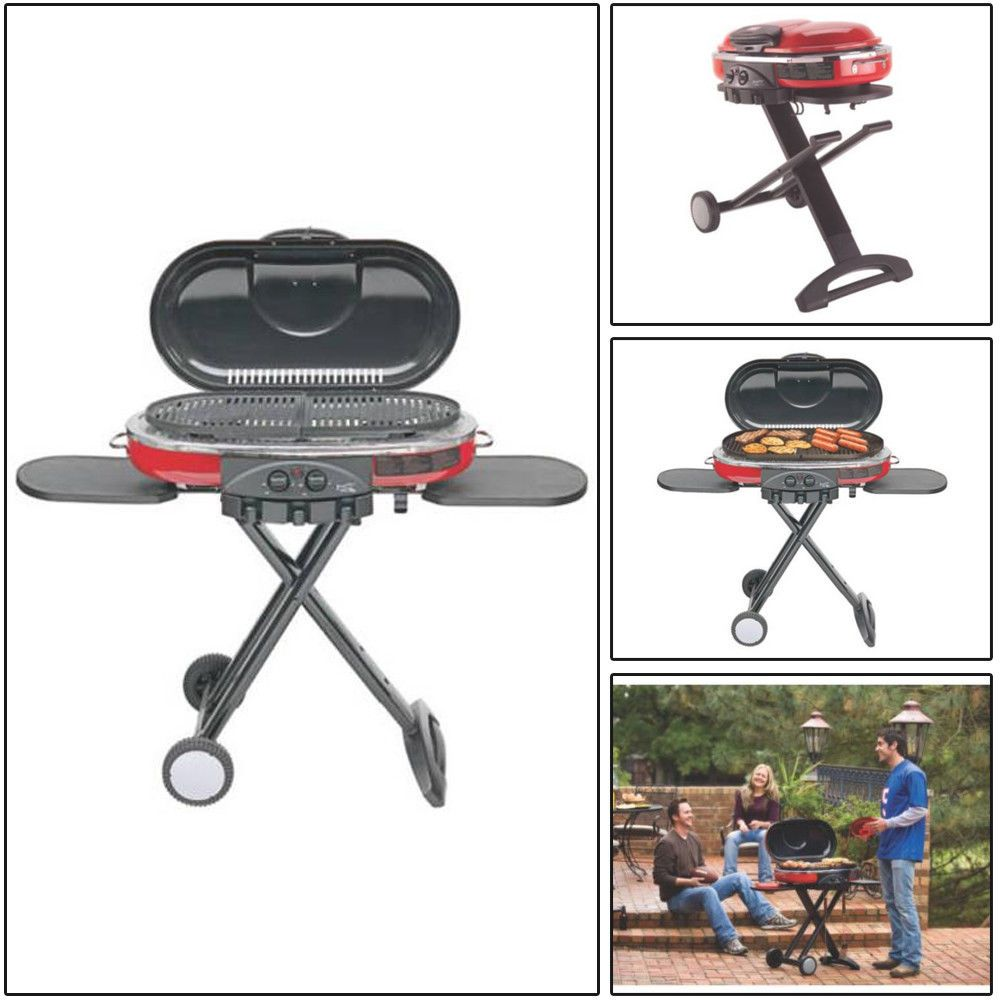 Foldable 2 Burner Propane Portable Grill With Tool Holder Removable Grease Tray Doesnotly