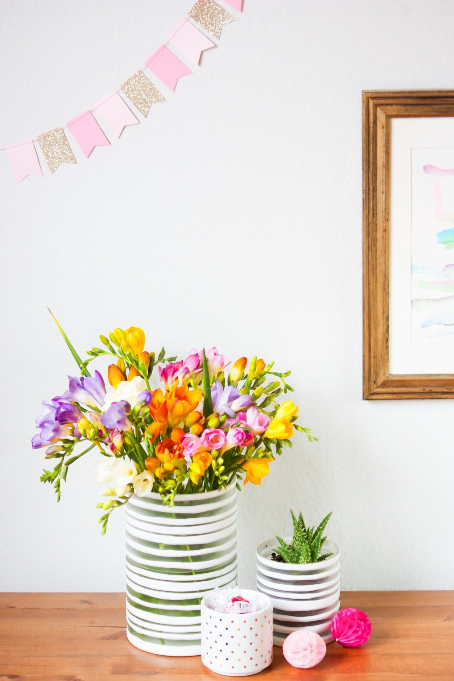 Fresh fressia from The Bouqs along side cactus, candy and pink party ...