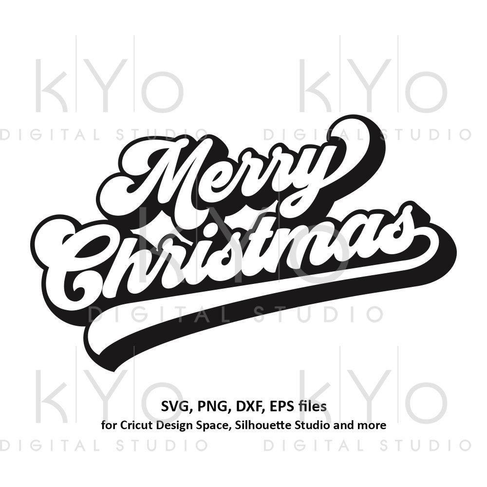 Merry Christmas Banner Svg Brush Lettering Christmas Party Svg Merry Christmas Card Svg Files For Christmas Banners Christmas Svg Files Merry Christmas Banner