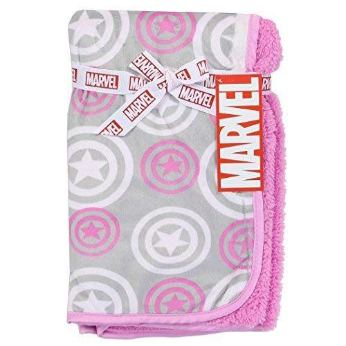 Marvel Captain America Super Soft Fleece 30 inch x 30 inch Baby Blanket  Pink