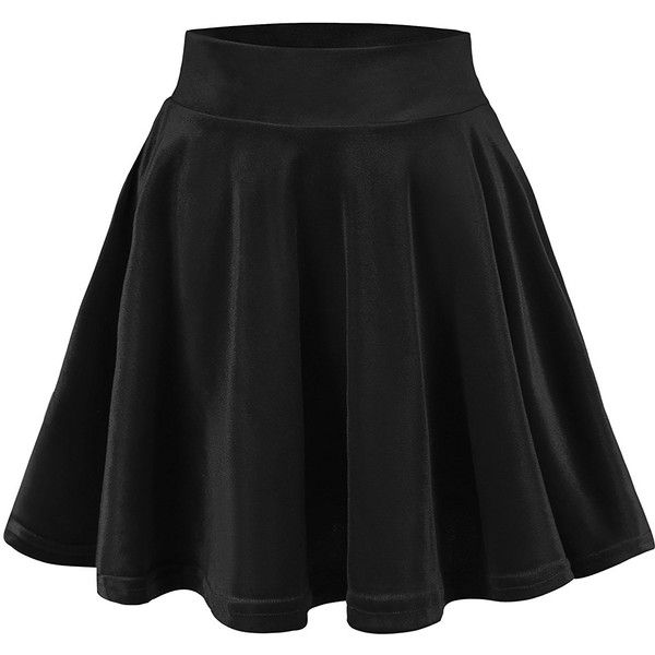Urban CoCo Women's Vintage Velvet Stretchy Mini Flared Skater Skirt at... ($9.86) ❤ liked on Polyvore featuring skirts, mini skirts, circle skirt, flared mini skirt, flare skirt, flared skater skirt and stretch skirts