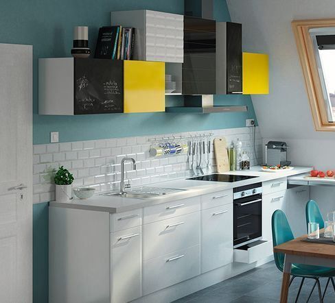 Mélange Des Genres Pour La Cuisine Subway Façades Blanches Pour - Facade pour meuble de cuisine pour idees de deco de cuisine
