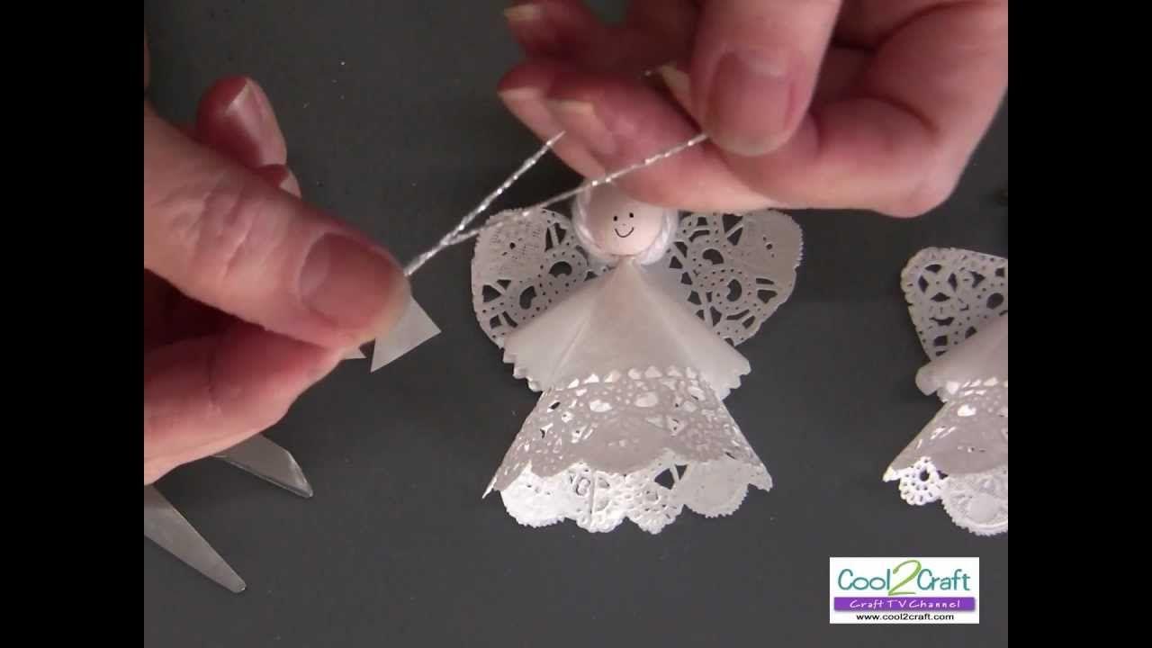 How to Make a Paper Doily Angel Using Aleene\'s Original Tacky Glue ...