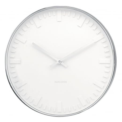 Karlsson Mr White Station 51cm Large Wall Clock Wall Clock Design Small Wall Clock Wall Clock