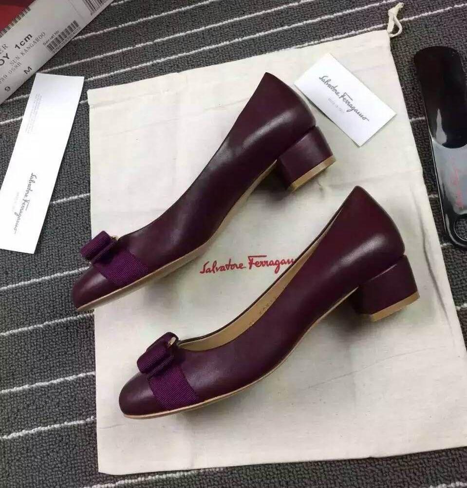 1adca98ac5d Ferragamo Vara Pump in Nappa Purple | Ferragamo Pumps | Pumps, Heels ...