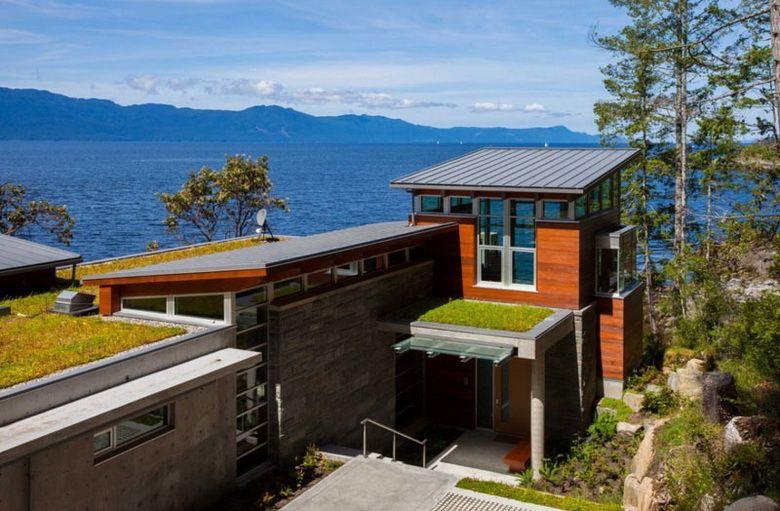 Односкатная крыша: 65 фото частных домов, разновидности ...