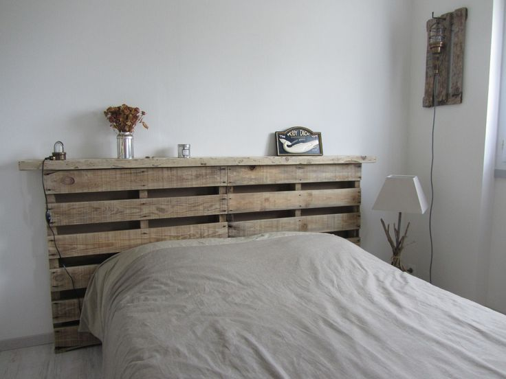 fabriquer une tete de lit en bois flotte de lit en bois. Black Bedroom Furniture Sets. Home Design Ideas