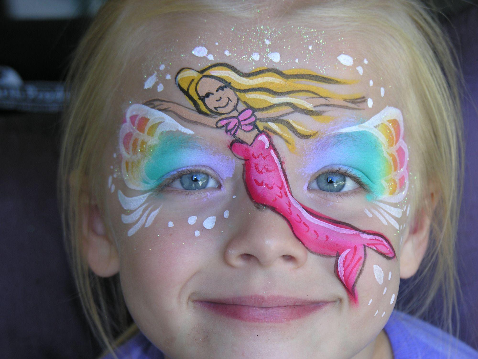Mermaid Face Paint Yuzler