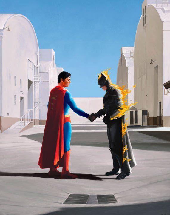 Superhero print Wish You Were Here - Pink Floyd Inspired ...