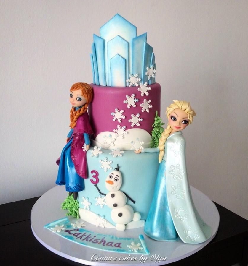 Frozen girls by Couture cakes by Olga Cakes Cake Decorating