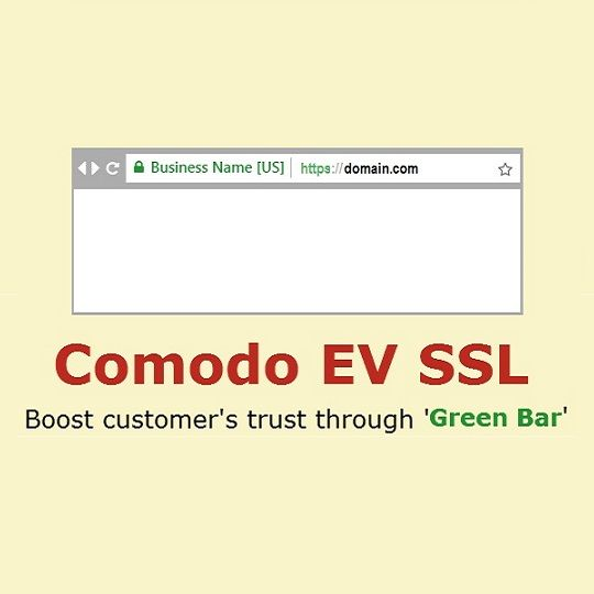 Comodo EV SSL certificate to display business name in green text in ...