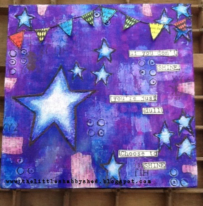 The Little Shabby Shed: Dylusions Canvas