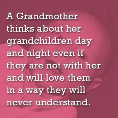 Sad when you can\'t see your grandchildren. I love and miss you so ...