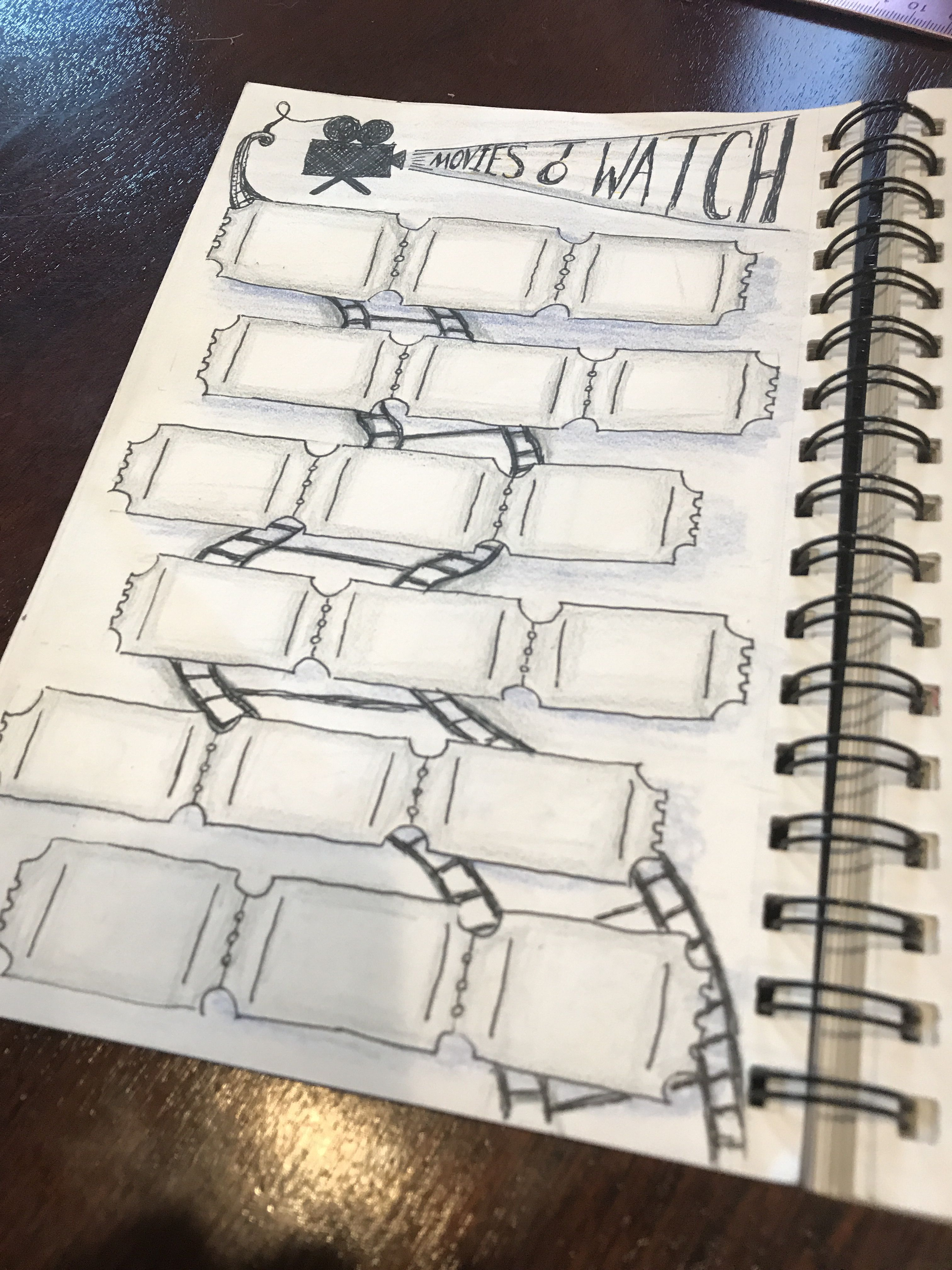 Movies To Watch Bullet Journal Bullet Journal Bullet Journal