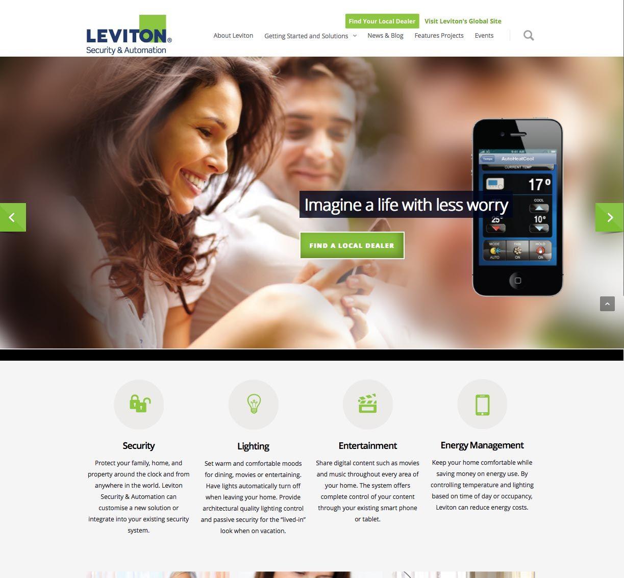 Leviton Australia portfolio and wordpress website built for ...