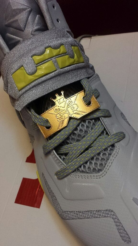 Nike Lebron Lion Head elite replacement Lace Locks GOLD