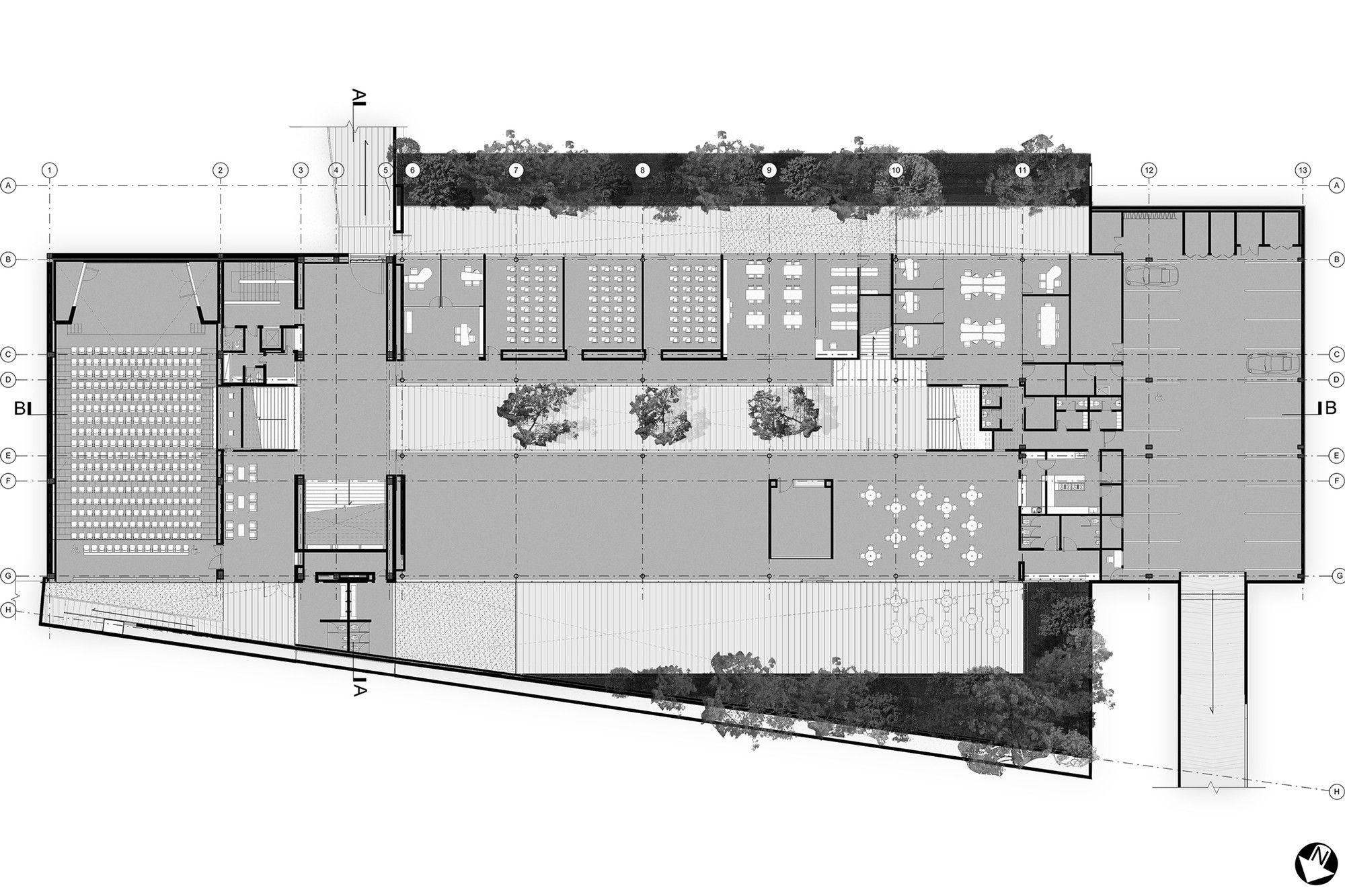 Centro de Memoria Paz y Reconciliación,Planta | Arquitectura ...
