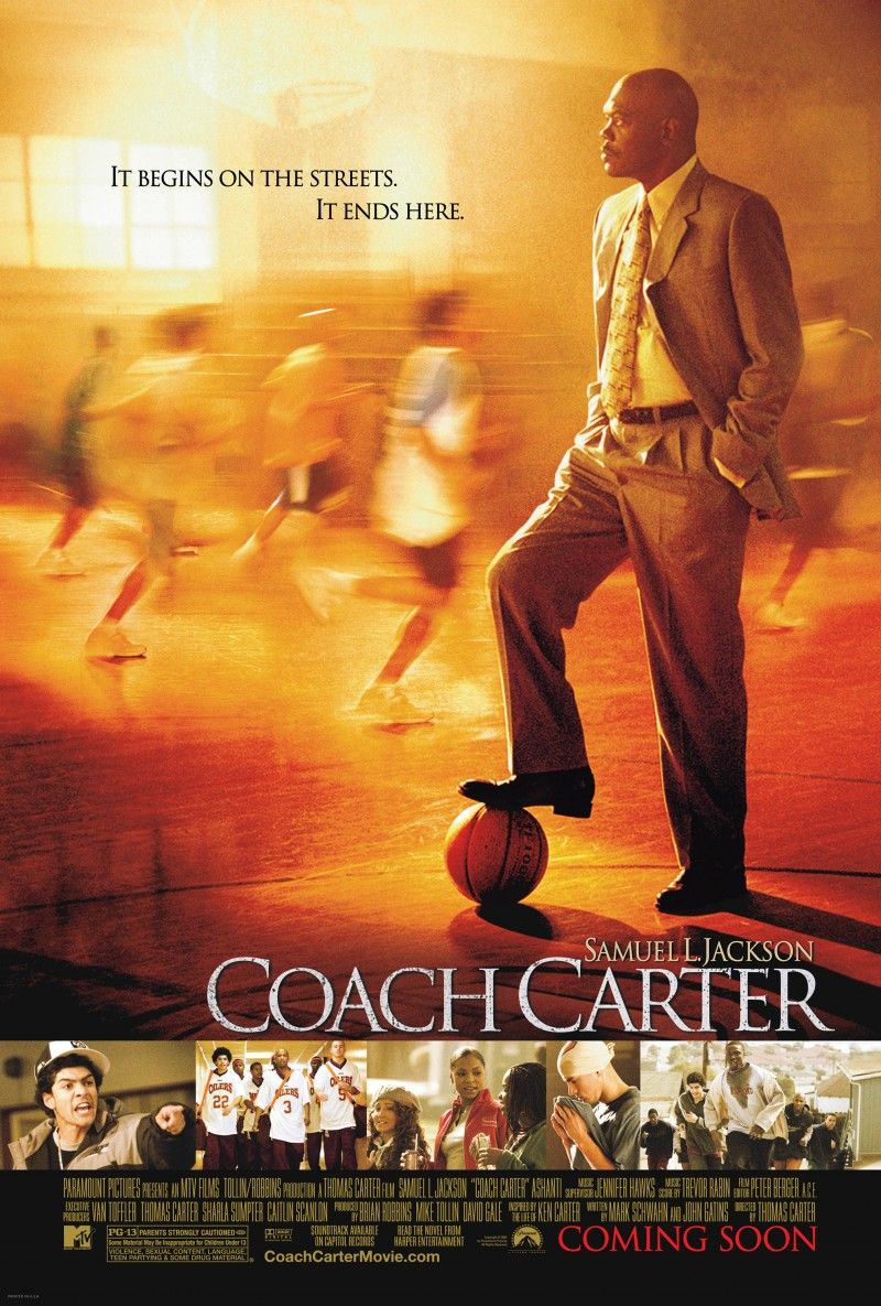 Coach Carter 2005 By Far One Of The Best Basketball Movies Coach Carter Sports Movie Inspirational Movies