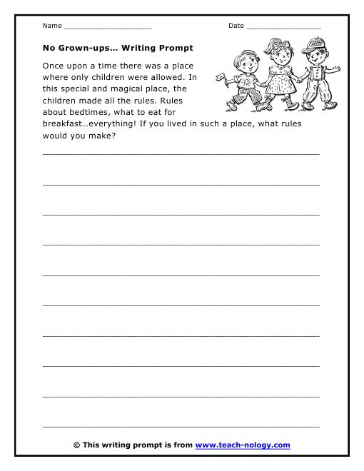 No Grown Ups Writing Prompt Writing Prompts For Kids Creative Writing Prompts Creative Writing