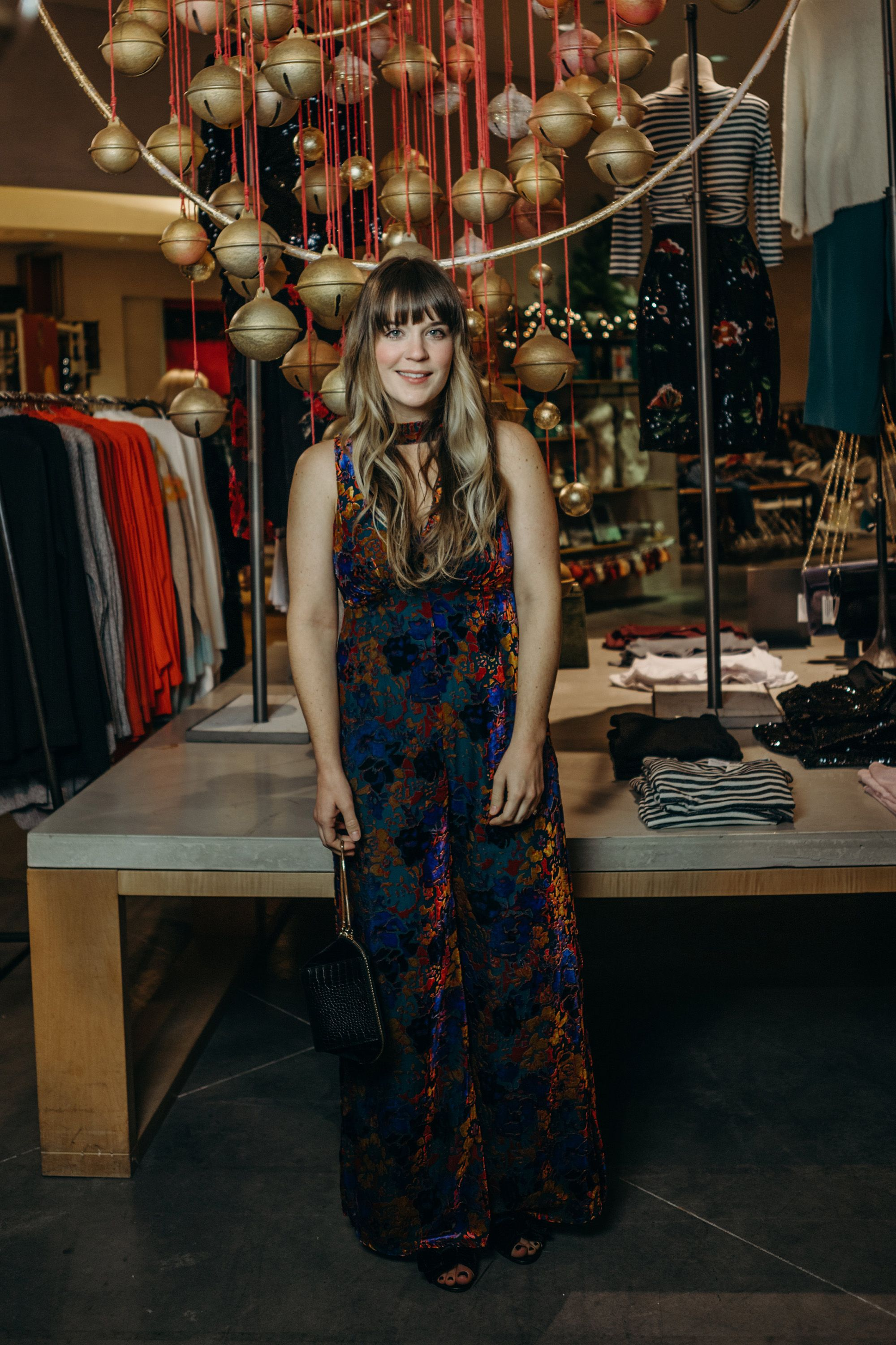 79c19734dc8b anthropologie holiday fashion show // selective potential Sequin Jumpsuit,  Velvet Jumpsuit, Holiday Outfits