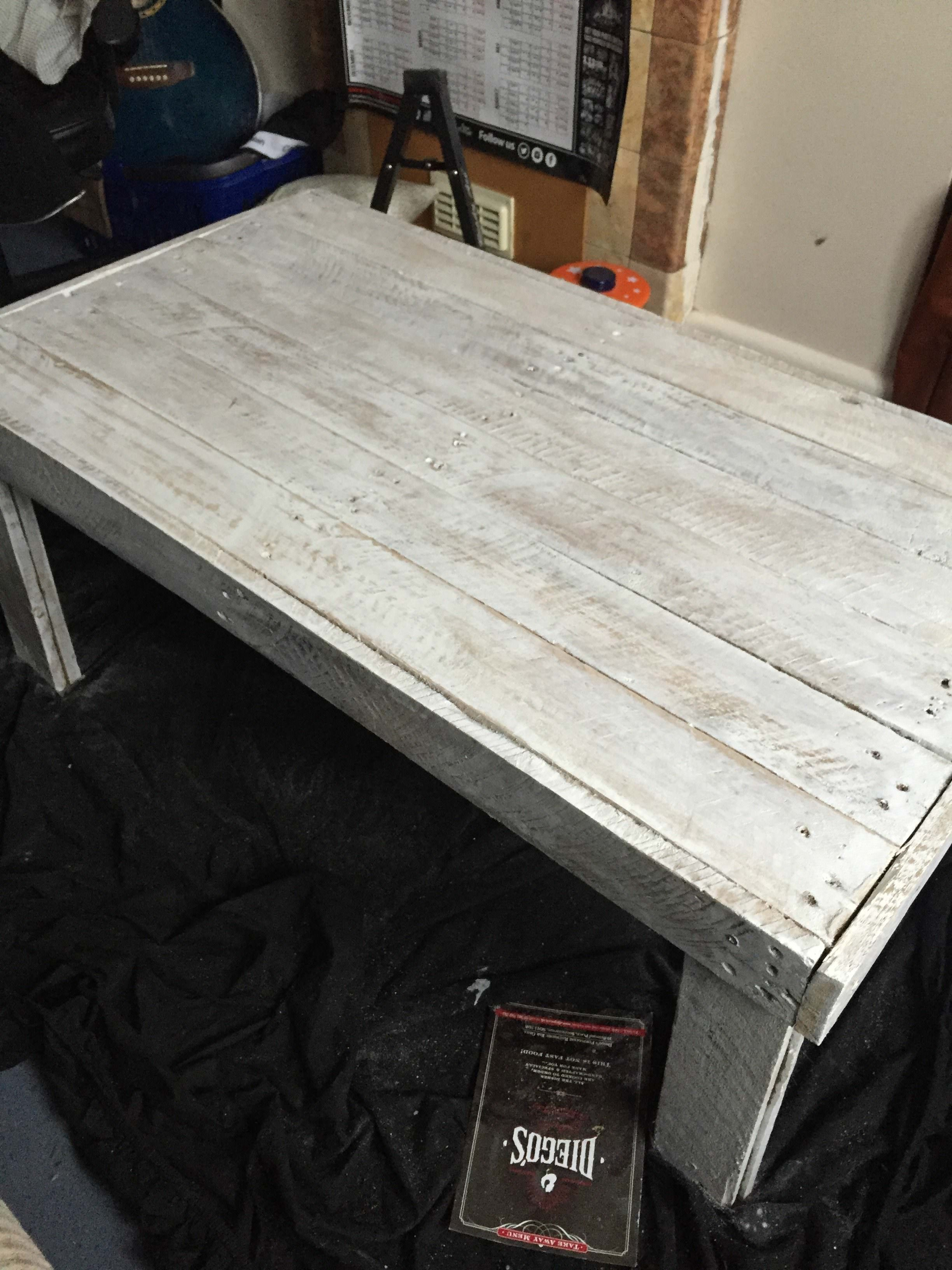 I Made This Simple, Rustic Pallet Coffee Table Using Only