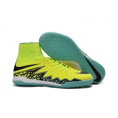 Nike HypervenomX Proximo IC alta tacones de fútbol amarillo verde negro