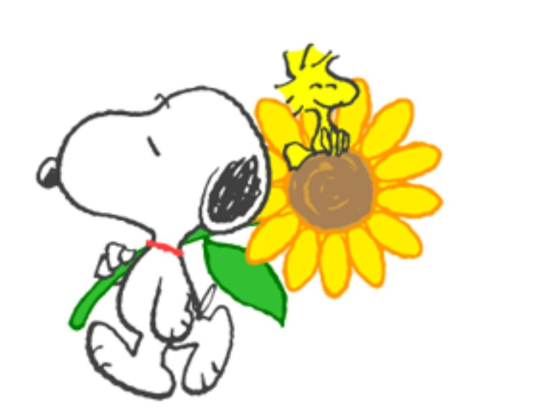 Image result for snoopy springtime flowers
