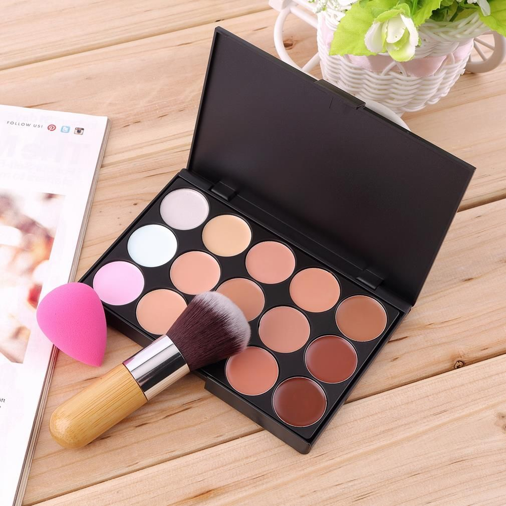 Hot Selling Top 15 Colors Concealer Palette + Bamboo
