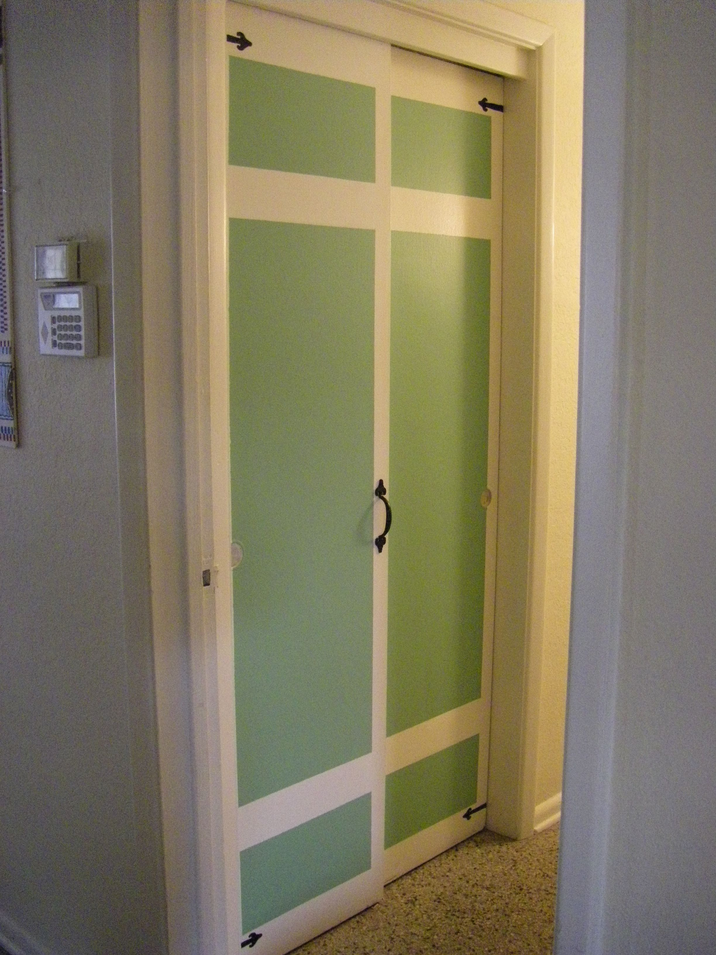 I Turned My Plain Sliding Closet Doors Into Carriage Style