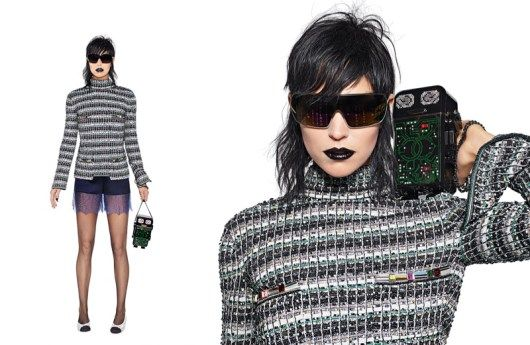 Following up a technology influenced runway show, Chanel's spring-summer 2017 campaign embraces eclectic styles. Model Arizona Muse appears in the advertisements captured by creative director Karl Lagerfeld. The theme range from pop Lolita to cyber punk with Arizona sporting lingerie-inspired lace, the house's signature tweed and silk jackets. Jewelry also takes the spotlight. Pearls, white …