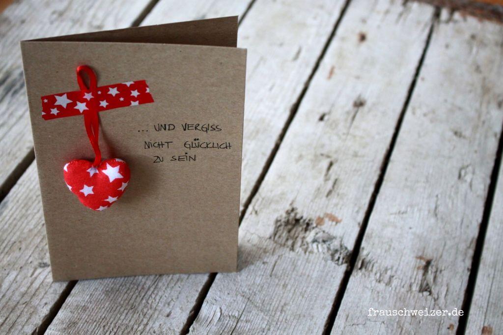 FrauSchweizer Handgemachte Karten: Herz.. und vergiss nicht