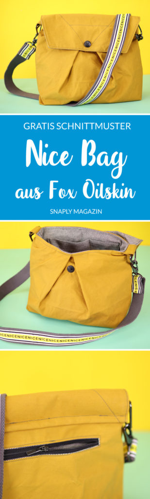 Nice Bag aus Fox Oilskin nähen mit Typo-Gurt – Gratis Schnittmuster | Snaply-Magazin