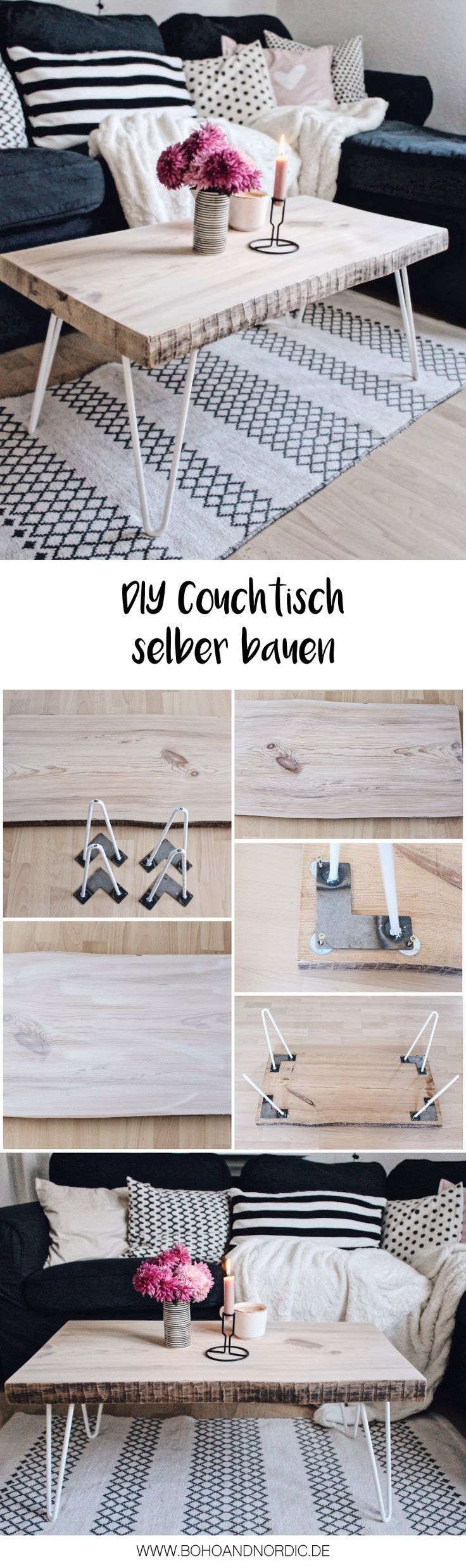 diy couchtisch selber bauen bauanleitung f r holztisch mit hairpin legs couchtisch selber. Black Bedroom Furniture Sets. Home Design Ideas