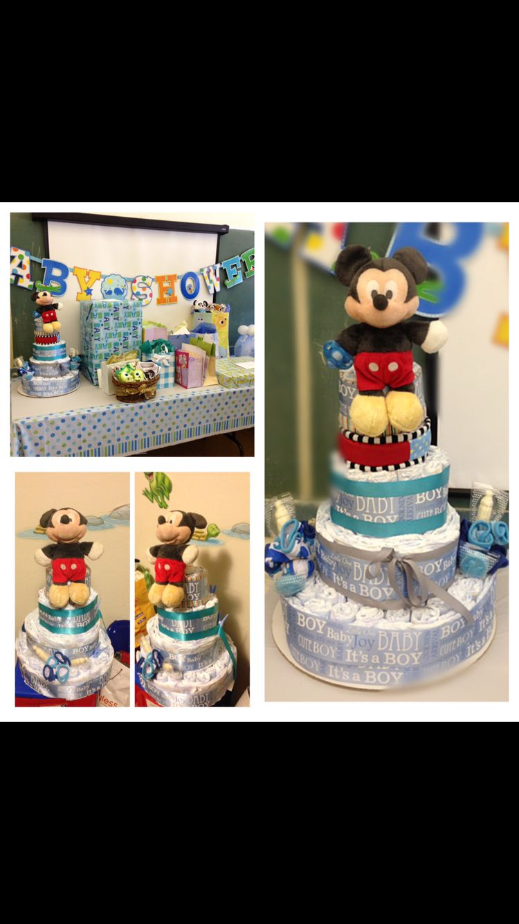 DIY Mickey Mouse Diaper Cake