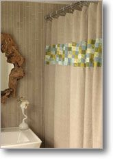 Tiny Patchwork Shower Curtain