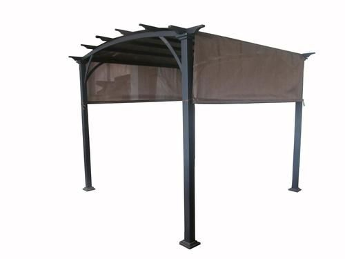 Deluxe Arched Garden Pergola Menards 299 Temporary Until I Can Build A Huge Patio Cover Almost The Length Of House
