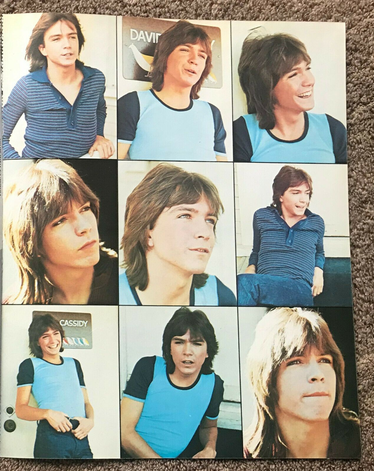 DAVID CASSIDY 1975 Full page UK magazine annual poster
