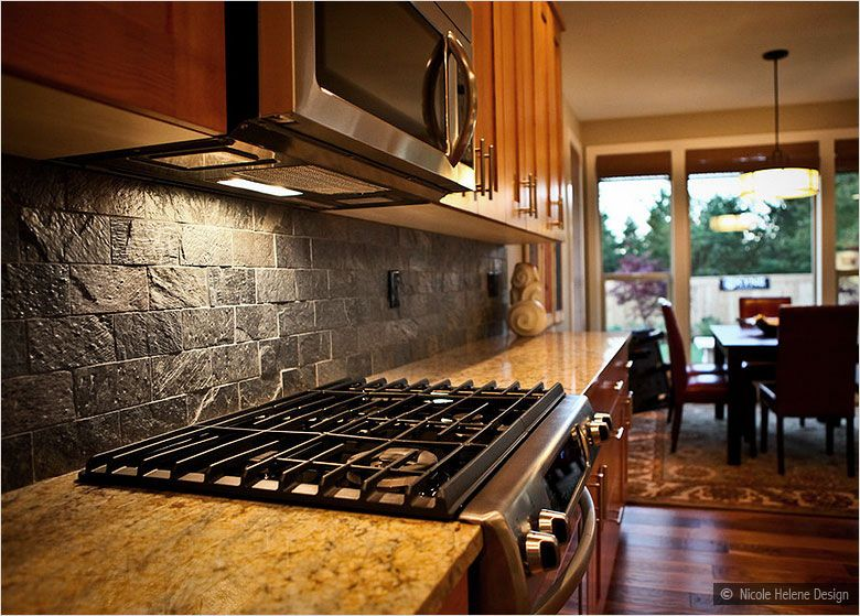 brown subway tile kitchen backsplash subway slate backsplash tile rh pinterest com