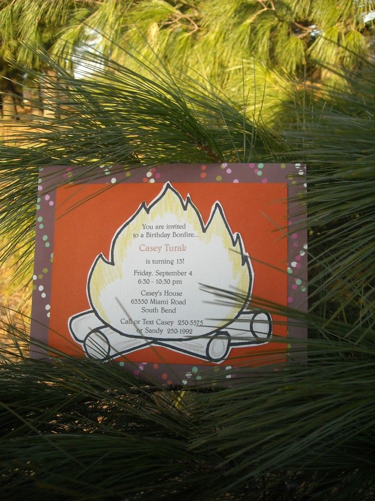 invitation idea | Bonfire Party Ideas | Pinterest | Invitation ...