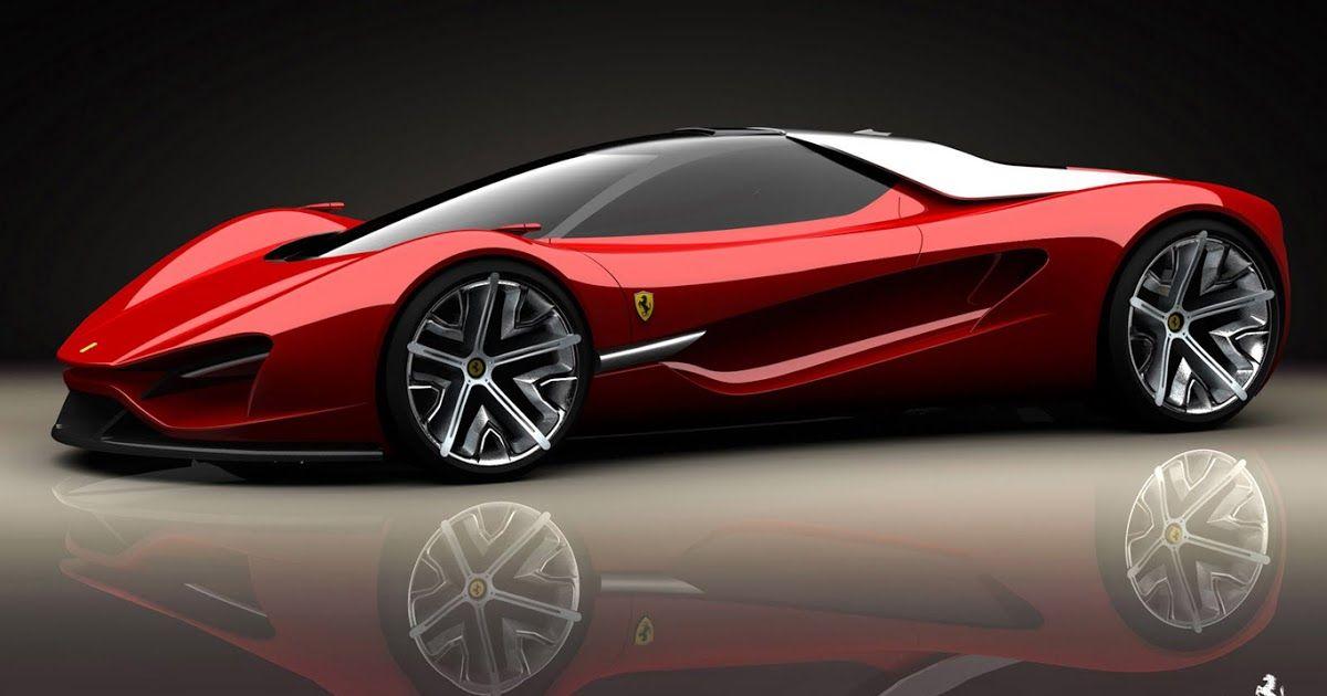 Ferrari Red Concept Sport Car HD Wallpaper