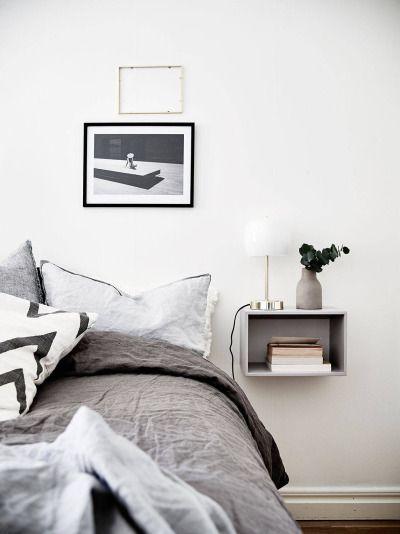 Schlafzimmer grau Schlafzimmer skandinavisch Pinterest - modernes schlafzimmer grau