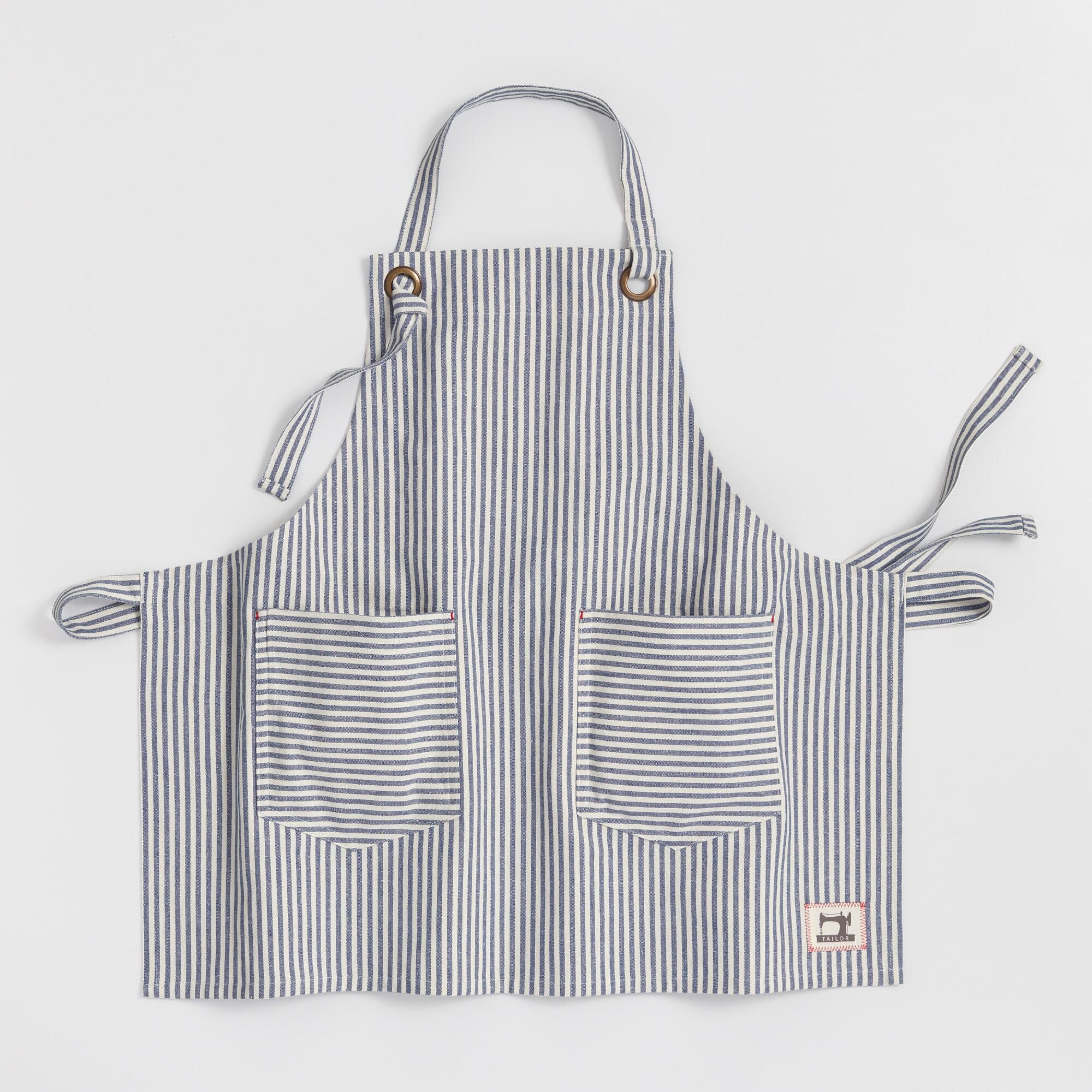 Blue and White Ticking Stripe Apron by World Market ...