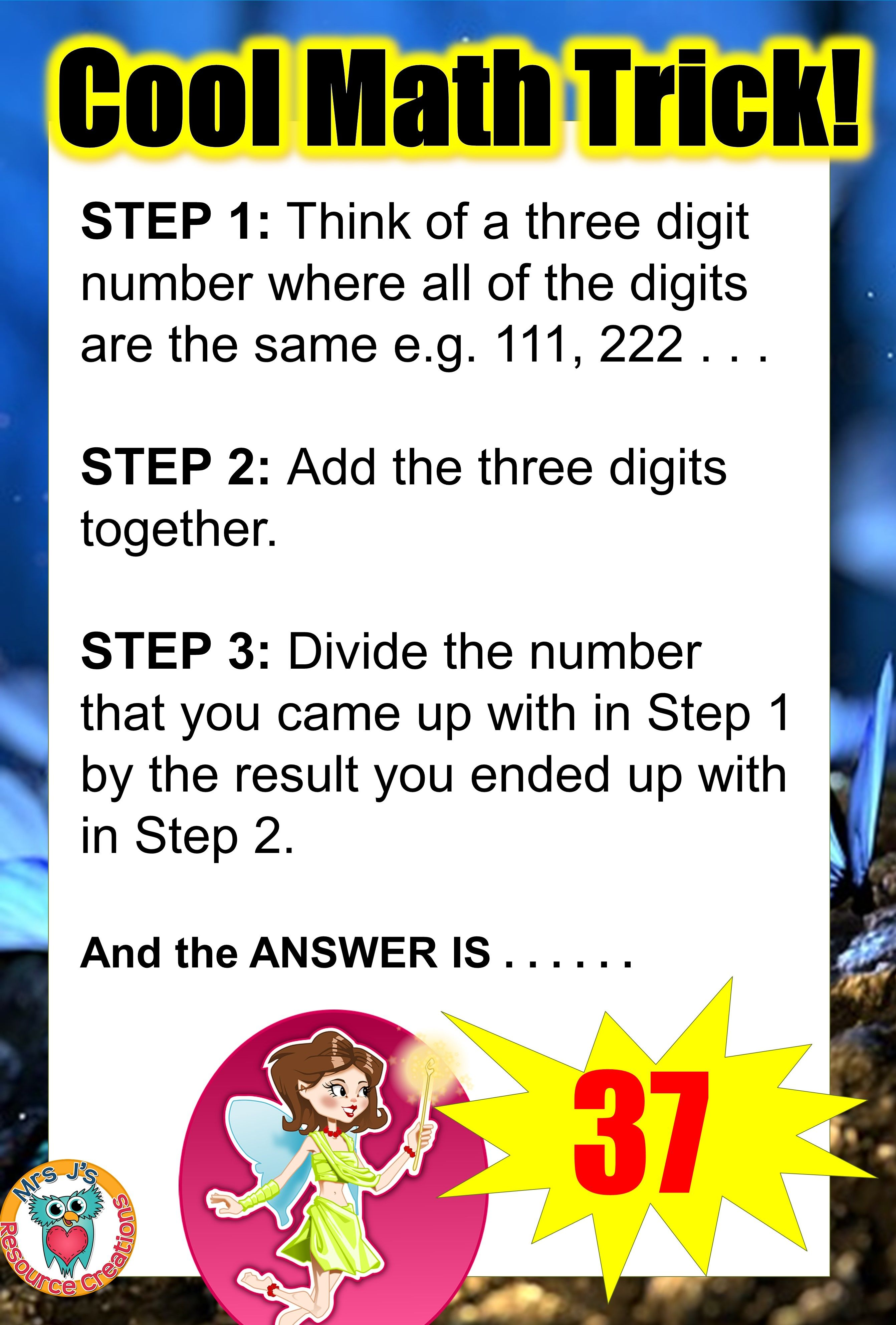 Math Trick Where Your Answer Will Always Be 37