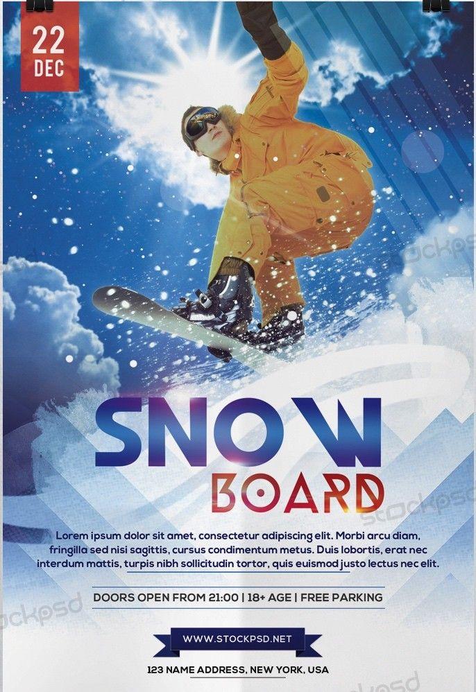 Download Snow Boards Sport Download Freebie Psd Flyer Template Free Psd Flyer Download Free Psd Mockup Flyers Posters Bus Sports Flyer Psd Flyer Templates Flyer