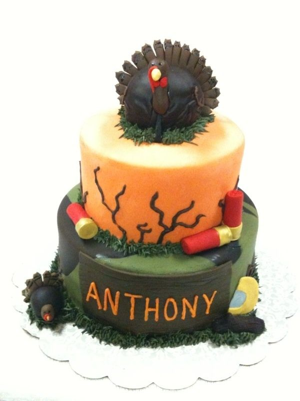 Magnificent Turkey Hunting Cake Hunting Cake Funny Birthday Cards Online Unhofree Goldxyz