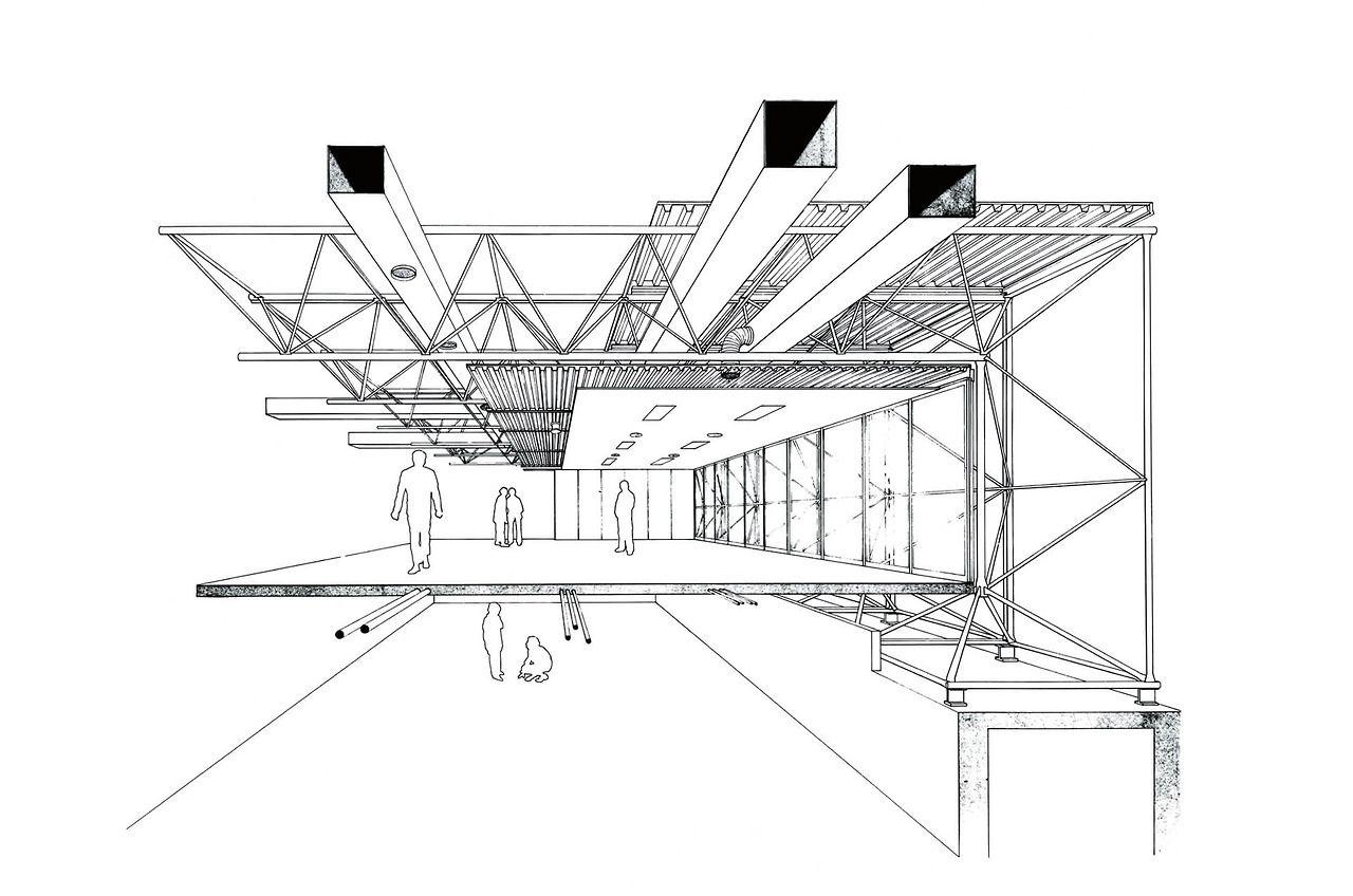 Richard Rodgers Renzo Piano Oficinas B B Novedrate Italia 1971 1973 Renzo Piano B B Italia Diagram Architecture
