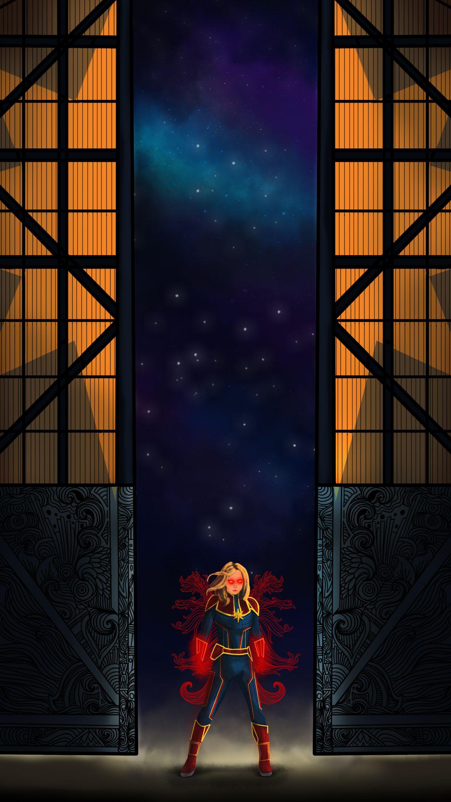 Captain Marvel Art Poaster Marvel Iphone Wallpaper Marvel Art