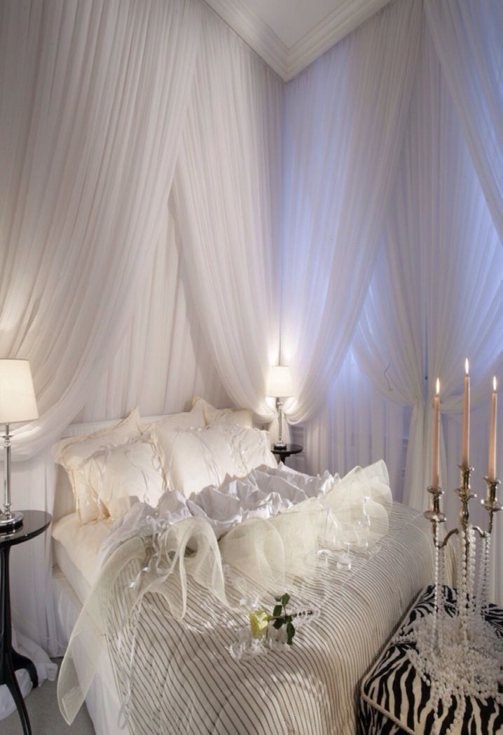 Luxury Romantic Bedroom White Bedroom Design Interior